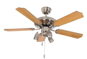 "Ceiling fan Steel-Star 132 cm / 52"" BC 803XXL with light N 620"