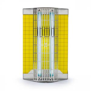 Insect trap with glueboard Flytrap Professional FTP Stainless Steel for commercial sector coverage 80 to 240 m²