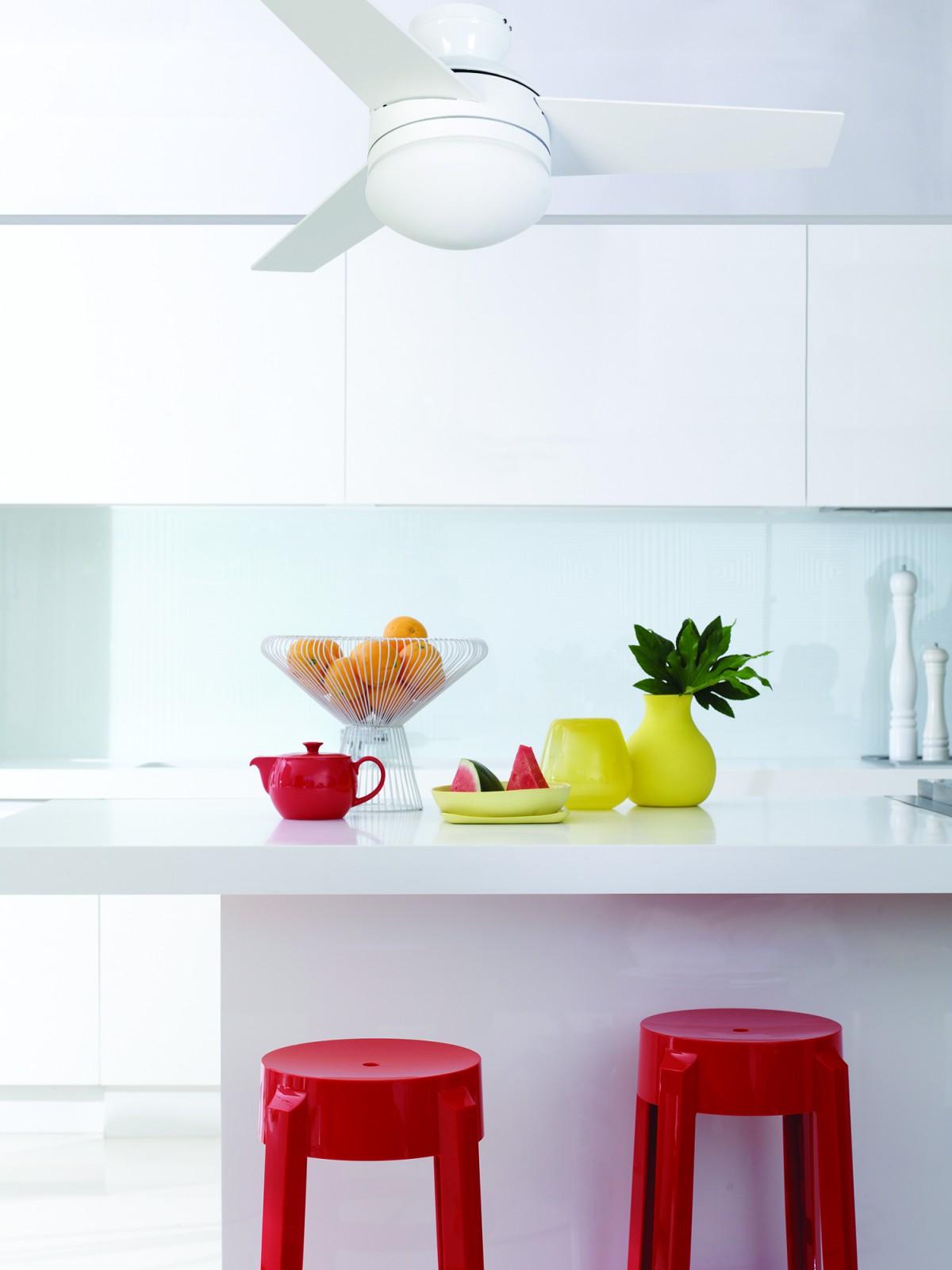 deckenventilator girona wei durchmesser 91 cm mit licht und fernbedienung. Black Bedroom Furniture Sets. Home Design Ideas