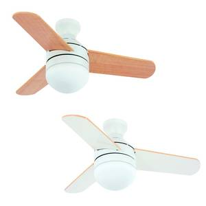 "Ceiling fan Girona White 91 cm / 36"" with light and remote control"