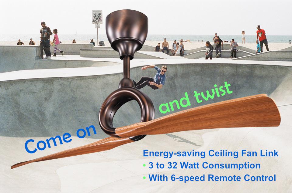 Kichler Energy Saving Ceiling Fan Link Oil Brushed Bronze