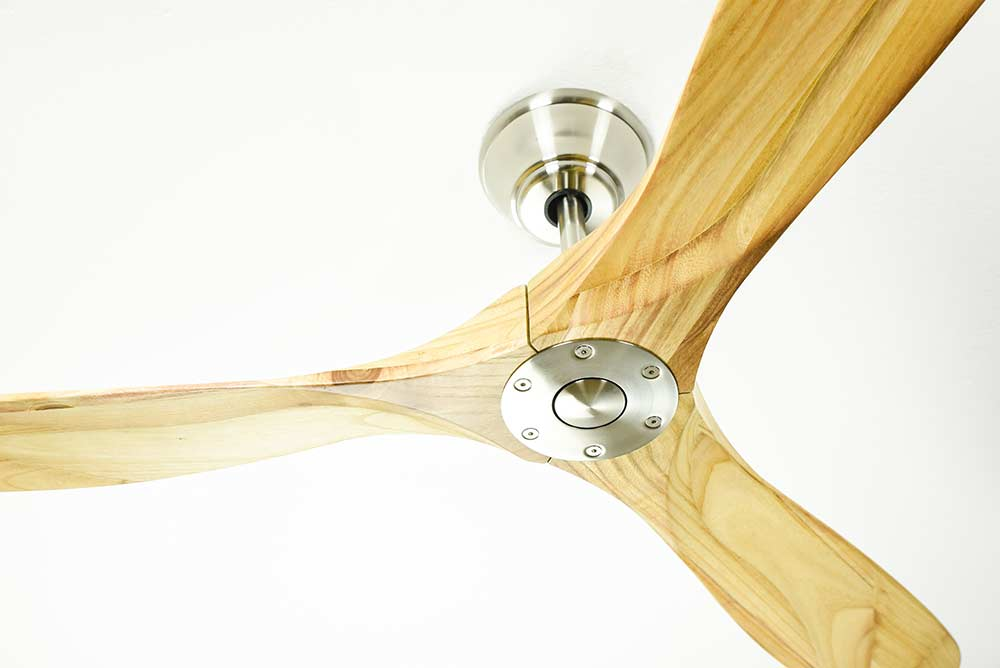 Ceiling Fan Eco Genuino Dc Chrome Amp Natural Wood With