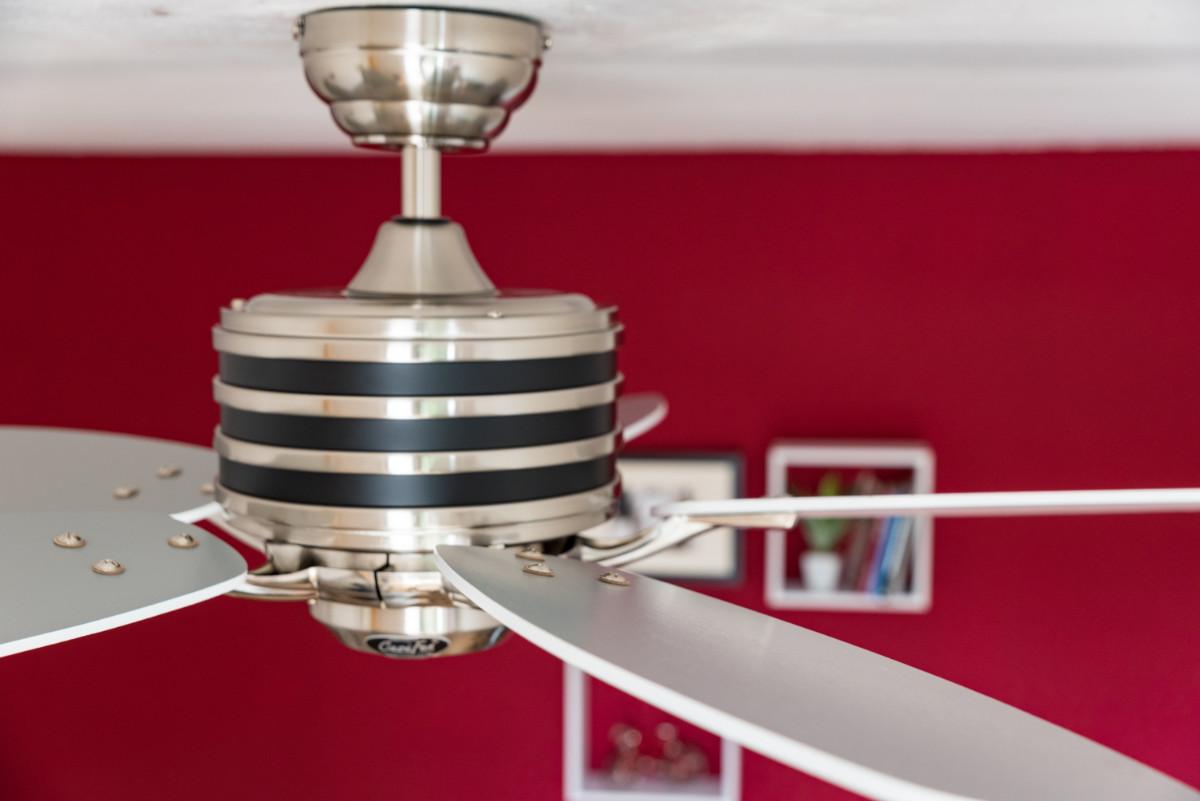 Energy Saving Ceiling Fan Eco Gamma White Grey Ceiling