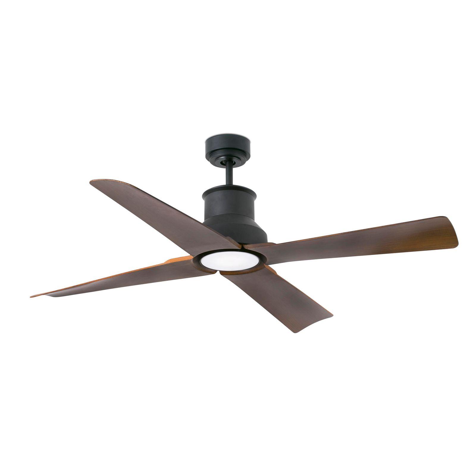 Faro energy saving LED ceiling fan Winche black IP44 Ceiling fans