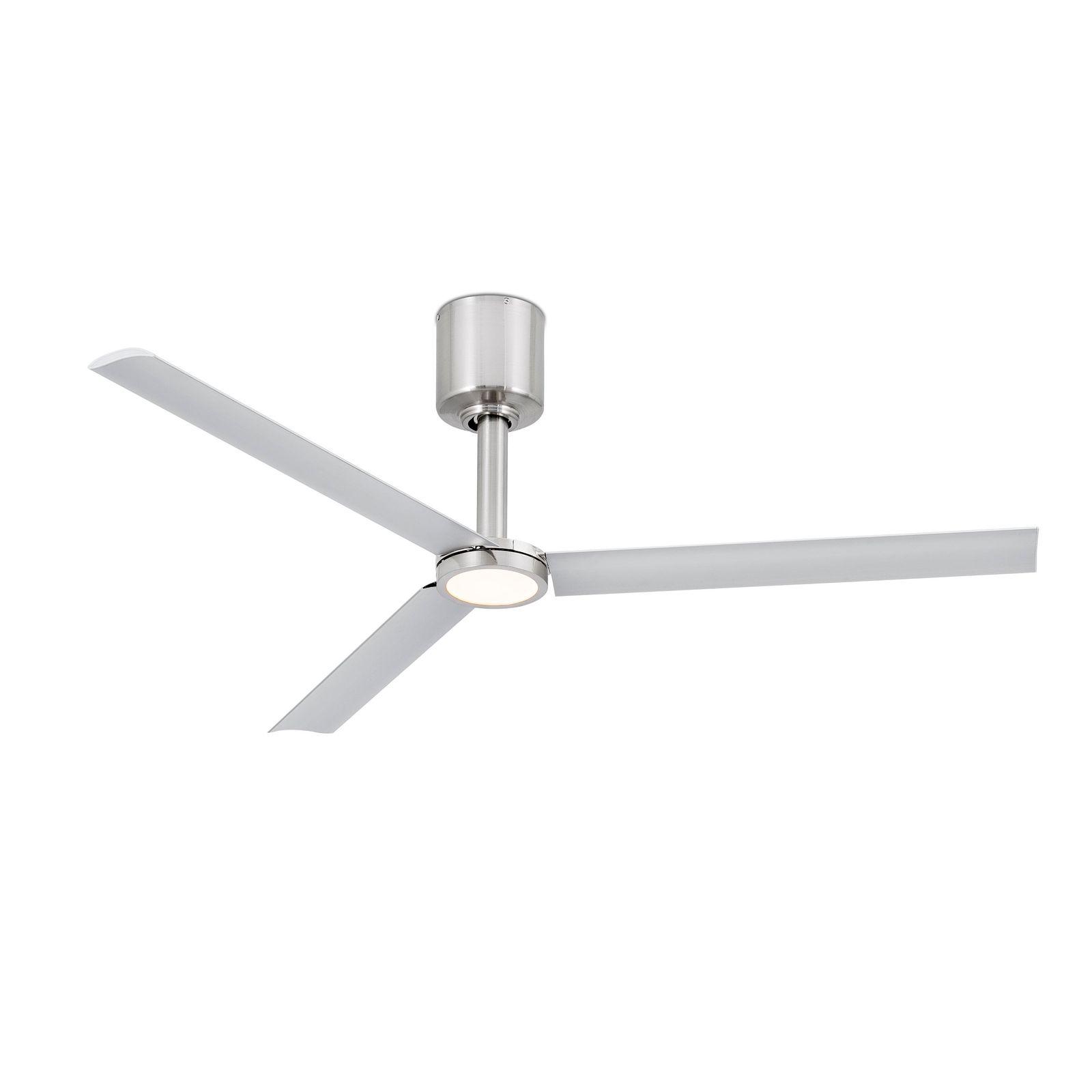 Faro energy saving LED ceiling fan Tao Nickel matt 132cm 52