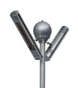 Infrarot Heizstrahler Ultra Low Glare Term Tower Palms IP67 4000 Watt in Alu poliert