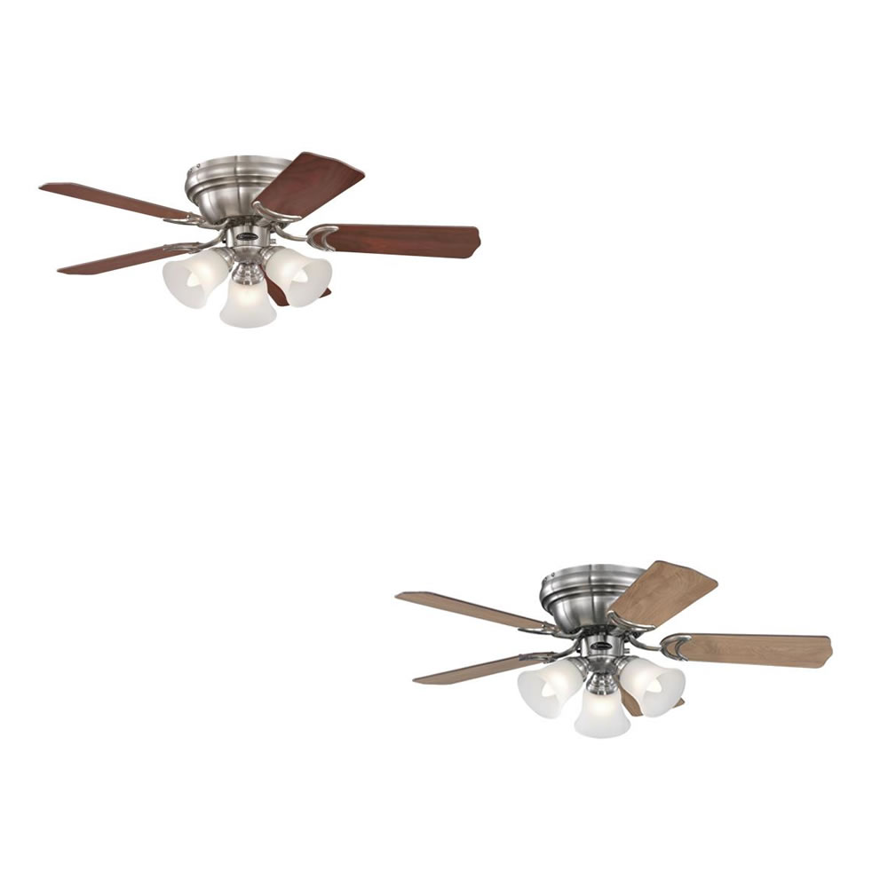Westinghouse Ceiling Fan Contempra Trio Brushed Nickel 90 Cm 36 With Lights