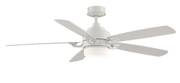 Fanimation ceiling fan The BENITO matt white with light