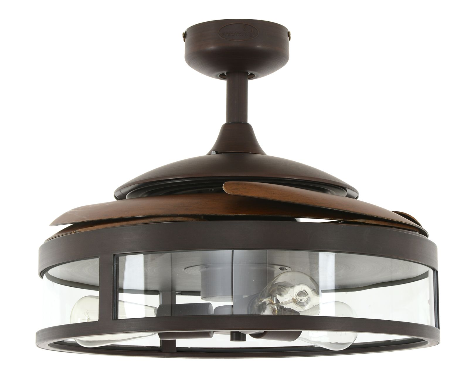 ceilings koa fan dc oil airfusion rubbed ceiling light with akmani bronze in