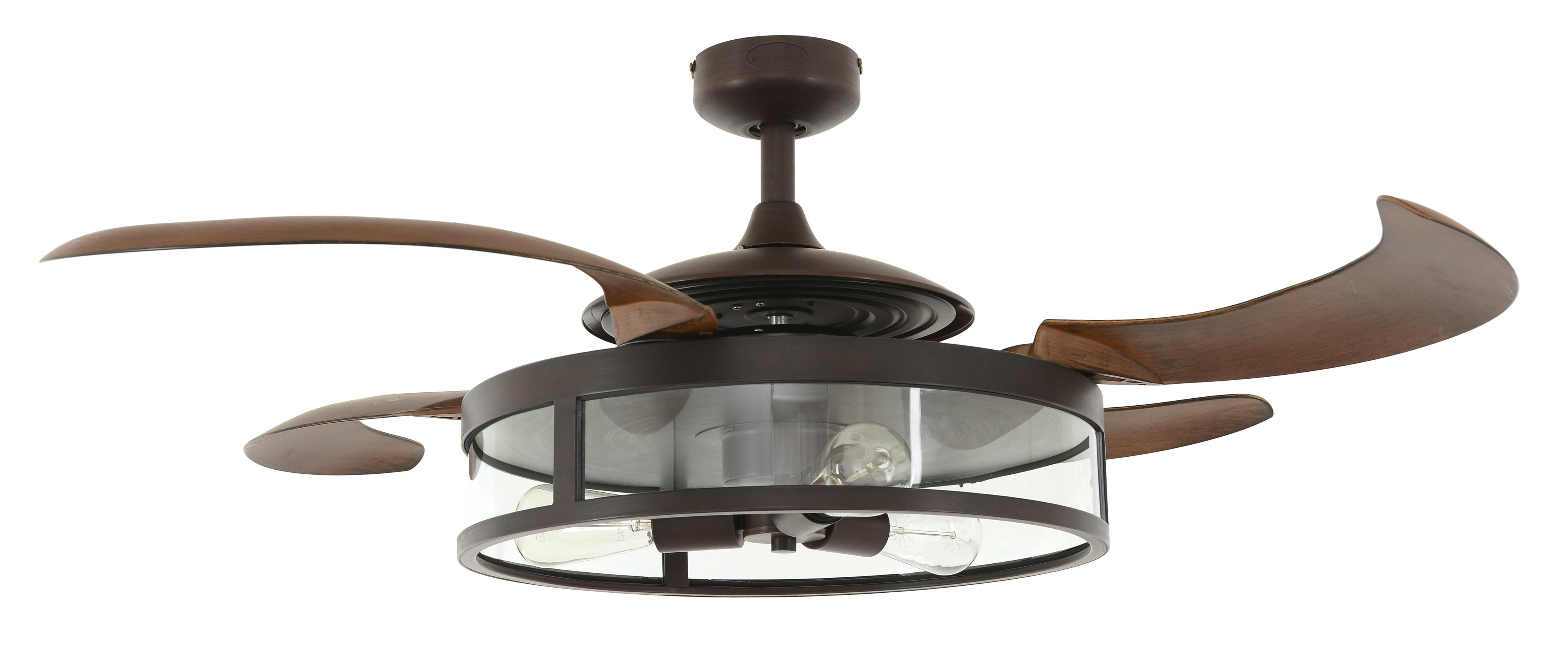 Retractable blade ceiling fan Fanaway Classic Bronze Ceiling fans ...