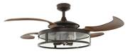 Retractable blade ceiling fan Fanaway Classic Bronze