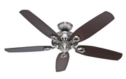 "Hunter ceiling fan Builder Elite 132cm / 52"" Chrome"