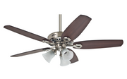 "Hunter Builder Plus Nickel 132cm / 52"" ceiling fan with light"