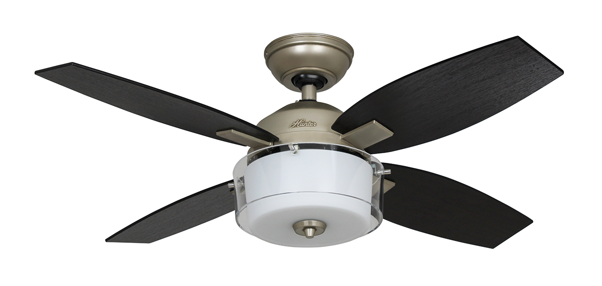 "Shop Allen Roth 3 Light Hainsbrook Antique Pewter: Ceiling Fan Central Park Pewter 107cm / 42"" With Light"