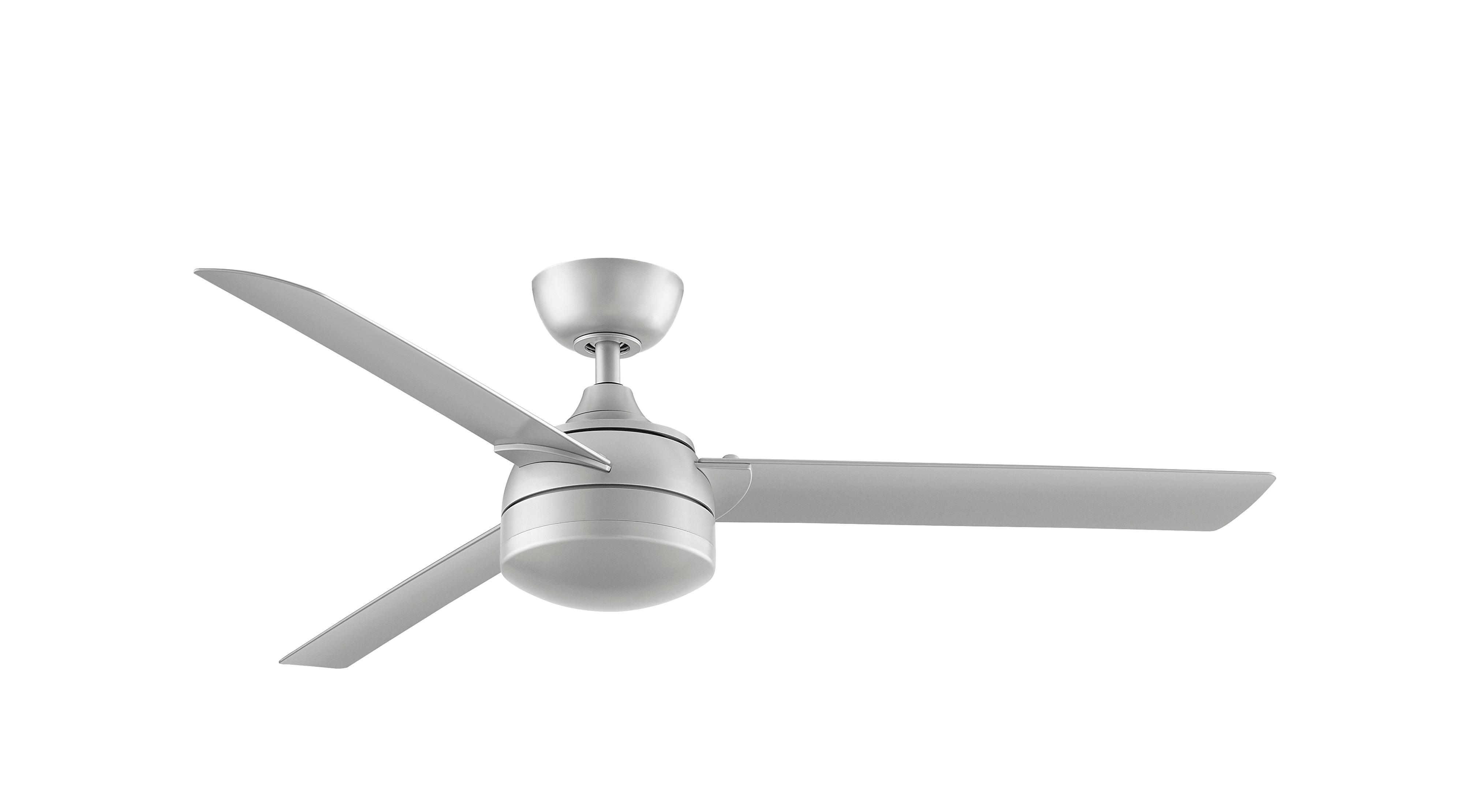 Outdoor Ceiling Fan Xeno Wet 142cm 56 Nickel With Led Home Commercial Heaters Ventilation Ceiling Fans Uk