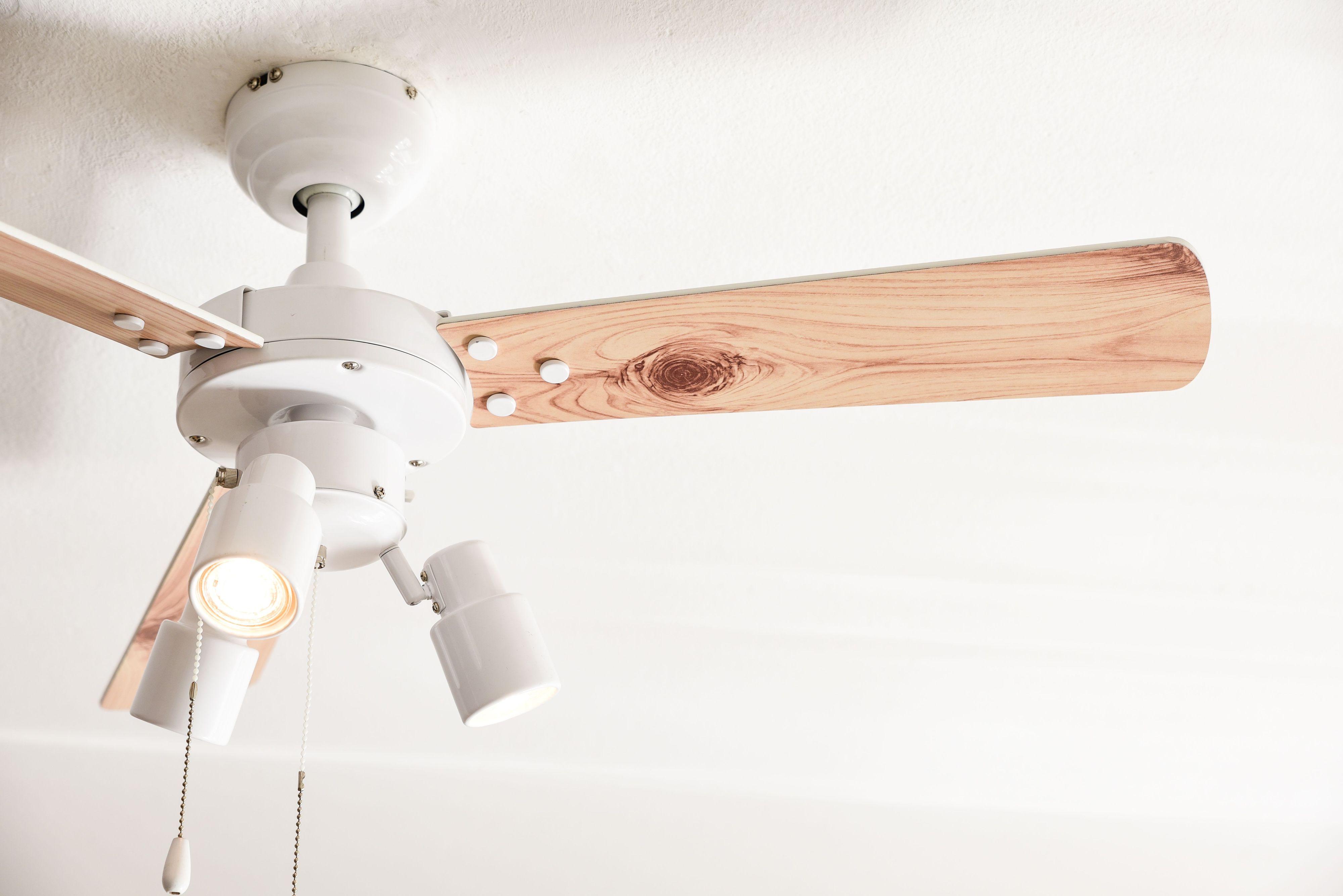 Ventilateur de plafond cyrus blanc avec clairage - Ventilateur de plafond avec eclairage ...