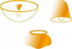 Ersatzglas für Anbauleuchte 3 Light Flush Mount 24318