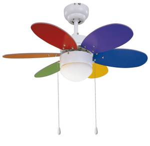 "Ceiling fan RAINBOW 76cm / 30"" with LED light"