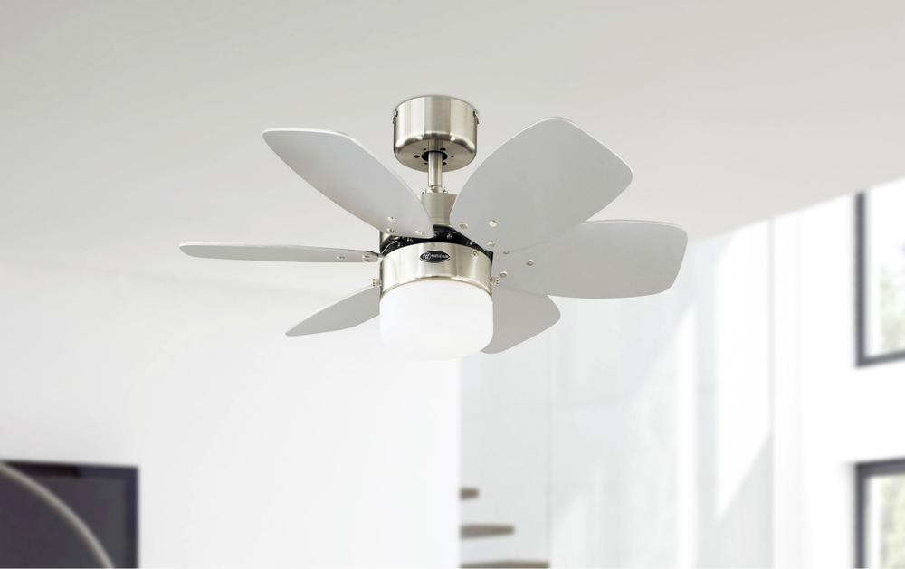 Ceiling Fan Flora Royal Chrome 76cm 30 With Light Home Commercial Heaters Ventilation Ceiling Fans Uk