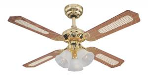 Westinghouse Ceiling Fan Princess Trio Polished Brass