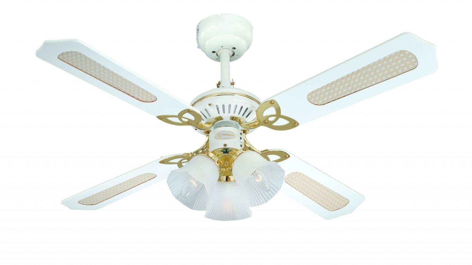 Ventilateur de plafond princess trio blanc de westinghouse - Ventilateur de plafond avec eclairage ...
