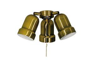 DeKo ceiling fan add-on light kit N 230 Antique Brass