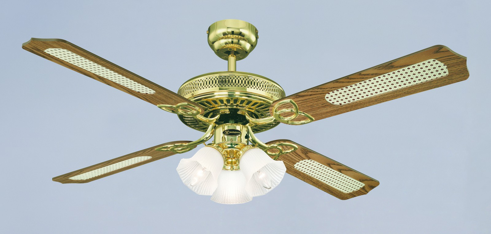 Westinghouse Ceiling Fan Monarch Trio Polished Brass 132