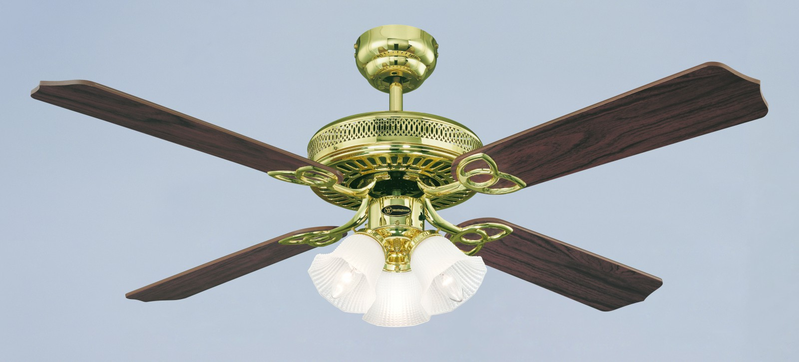 Westinghouse ceiling fan monarch trio polished brass 132 cm 52 westinghouse ceiling fan monarch trio polished brass 132 cm 52quot with lights bild aloadofball Images