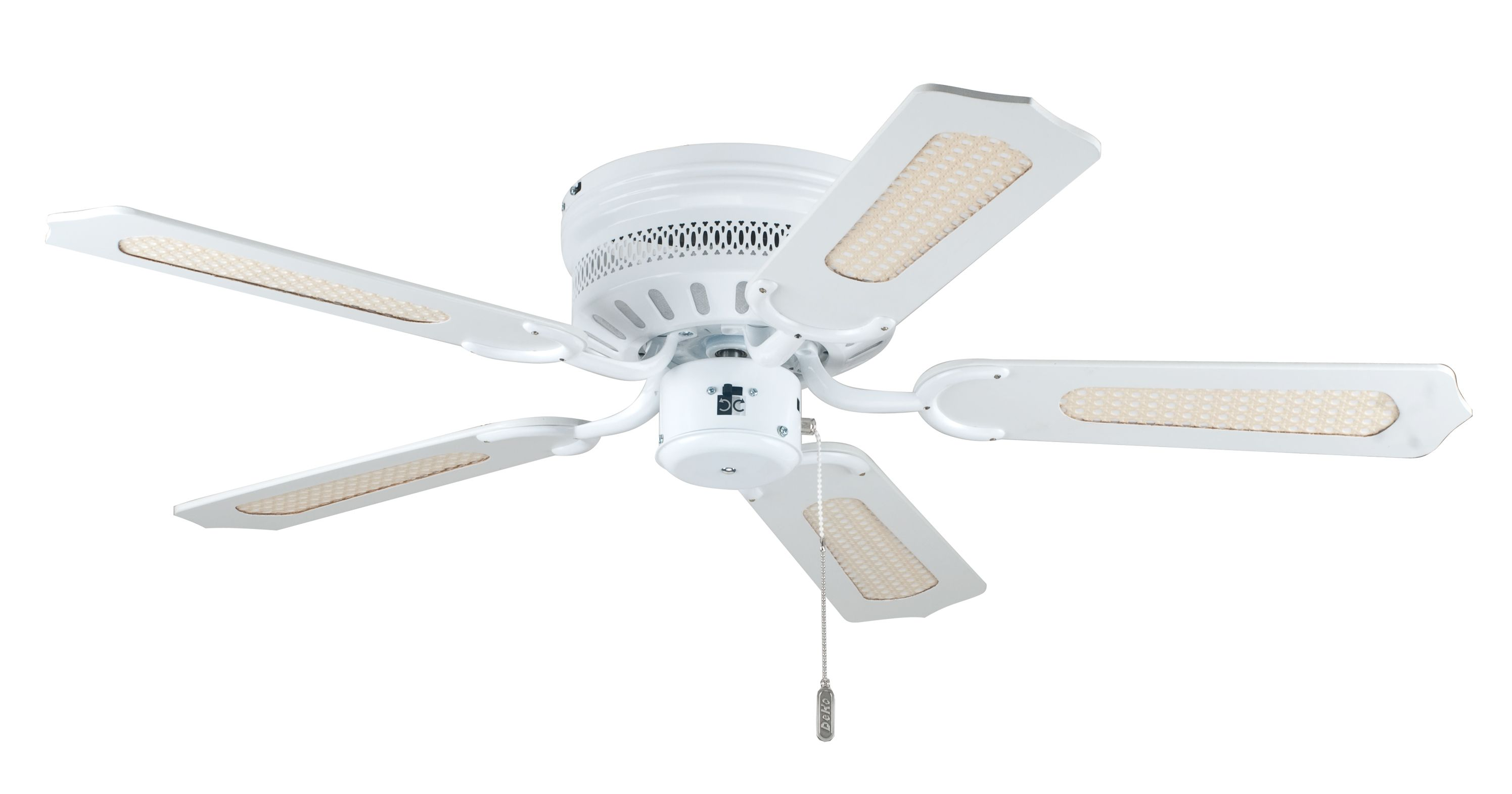 Ceiling Fan White Liane With Pull Cord 132cm 52 Home Commercial Heaters Ventilation Ceiling Fans Uk