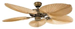 Deckenventilator Classic ROYAL 132 cm Messing / Palme