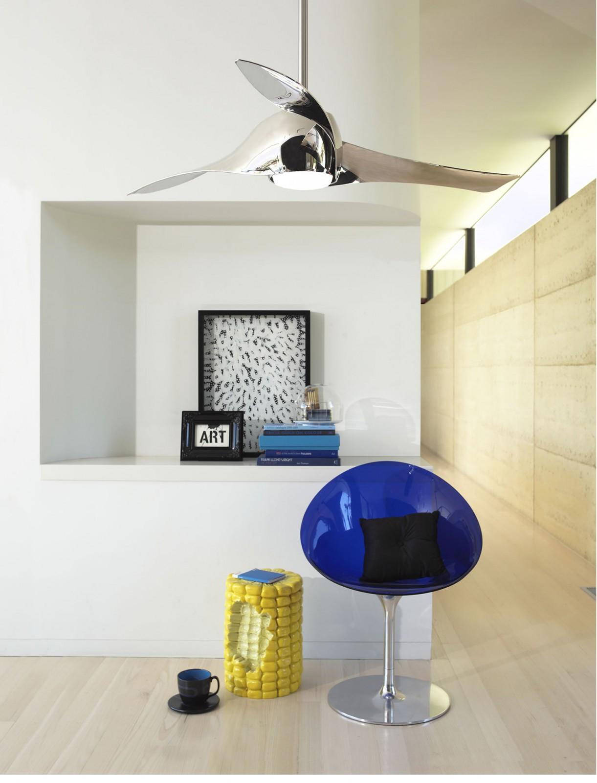 Ventilateur de plafond artemis liquid nickel 147 cm avec clairage ventilateurs de plafond pour - Ventilateur de plafond avec eclairage ...