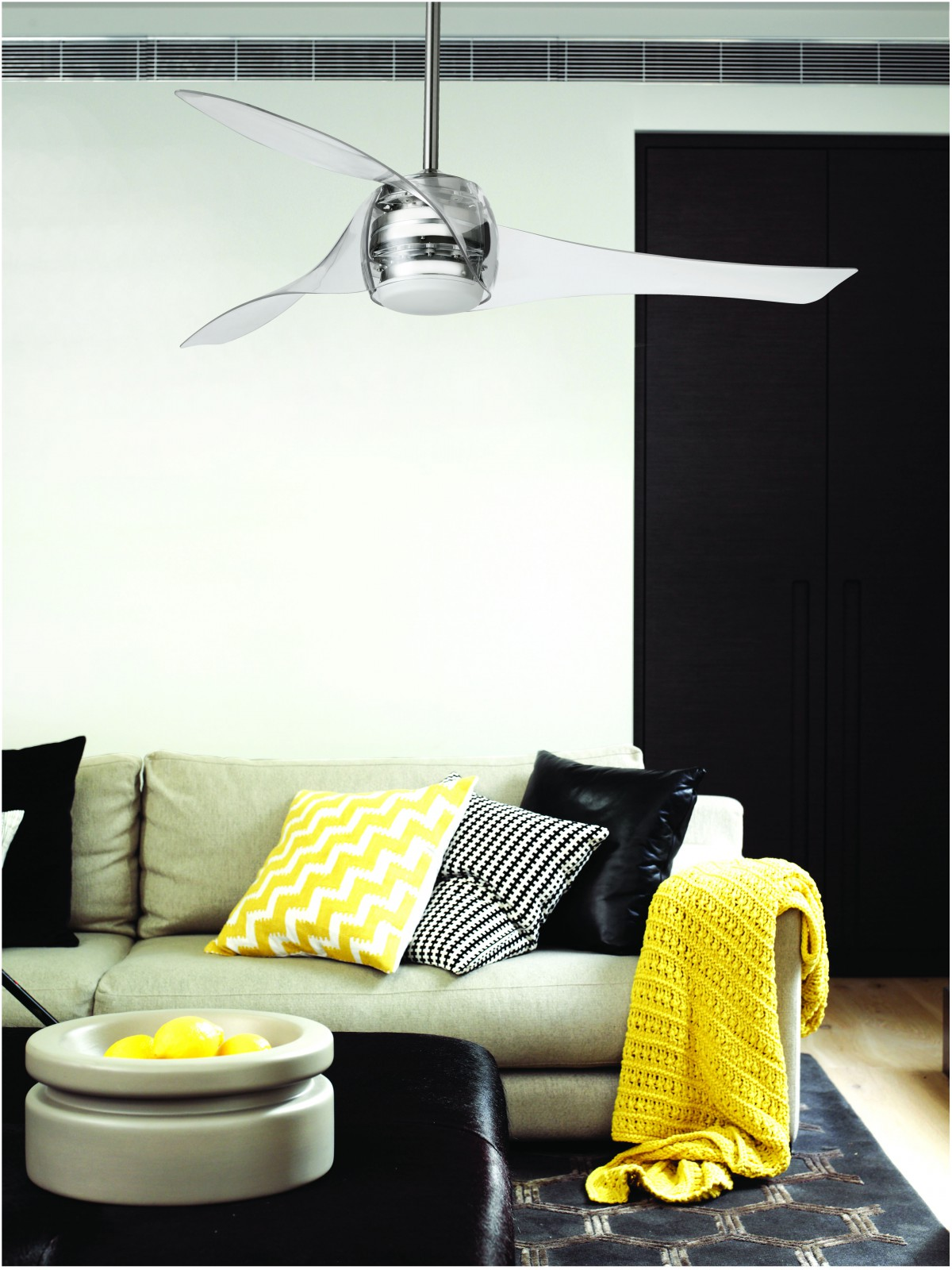 """Ceiling Fan Artemis Transparent 147 cm 58"""" with lighting by"""