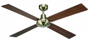 Ceiling fan Airfusion Quest II Brass with Wall Control