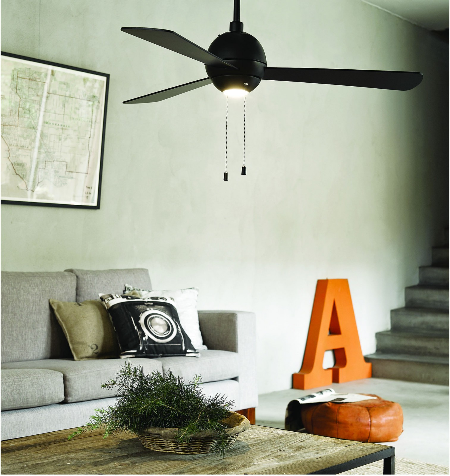 Ventilateur Éclairage Plafond Cm Beacon Avec Noir De Bordono 122 BshtQCrdxo