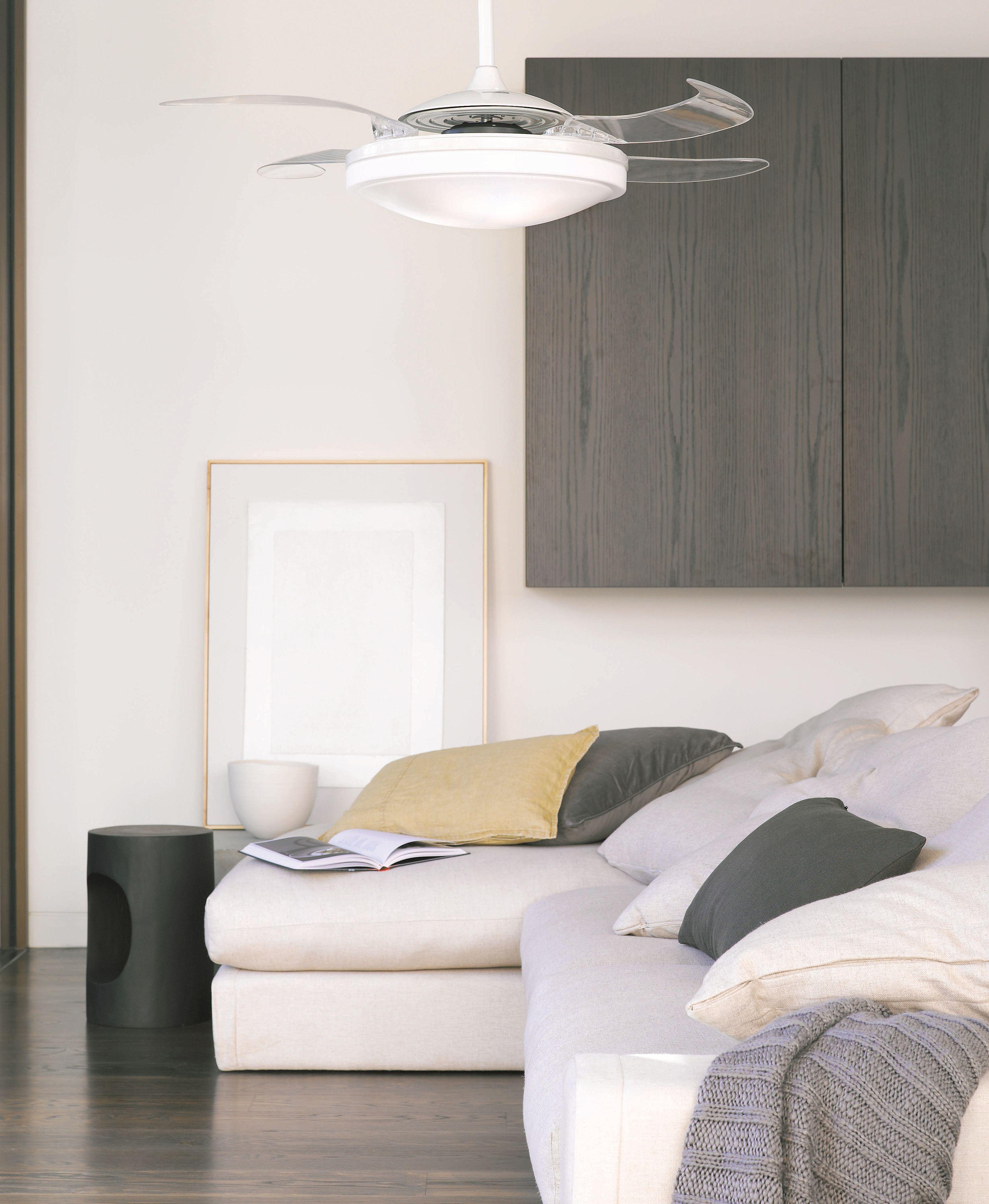 deckenventilator fanaway led evo1 dimmbar wei 122 cm. Black Bedroom Furniture Sets. Home Design Ideas