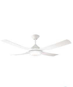Ceiling fan Moonah White with LED light and remote control 132cm / 52""