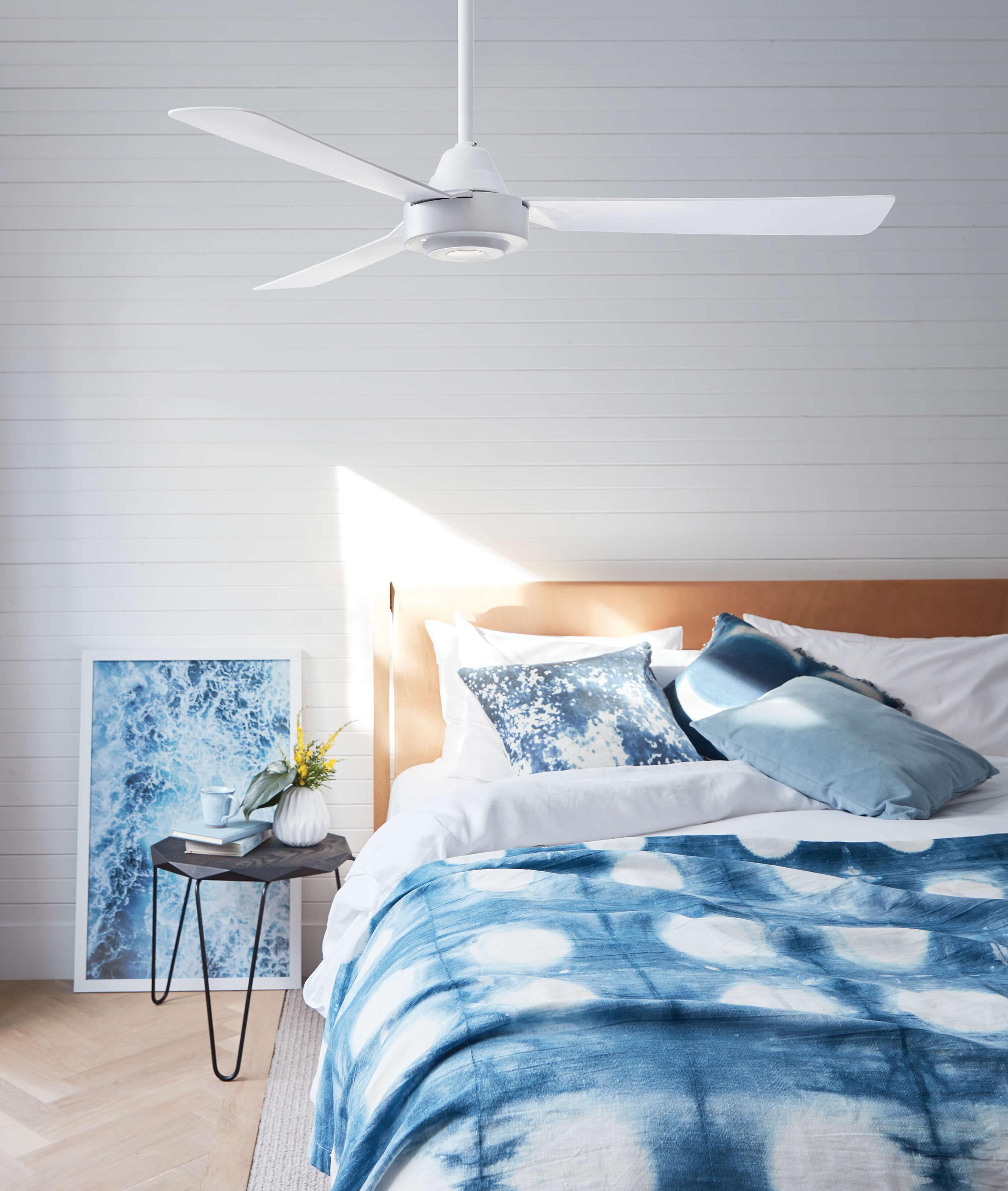 Ceiling Fan Bayside Calypso White 122cm 48 Quot Ceiling Fans