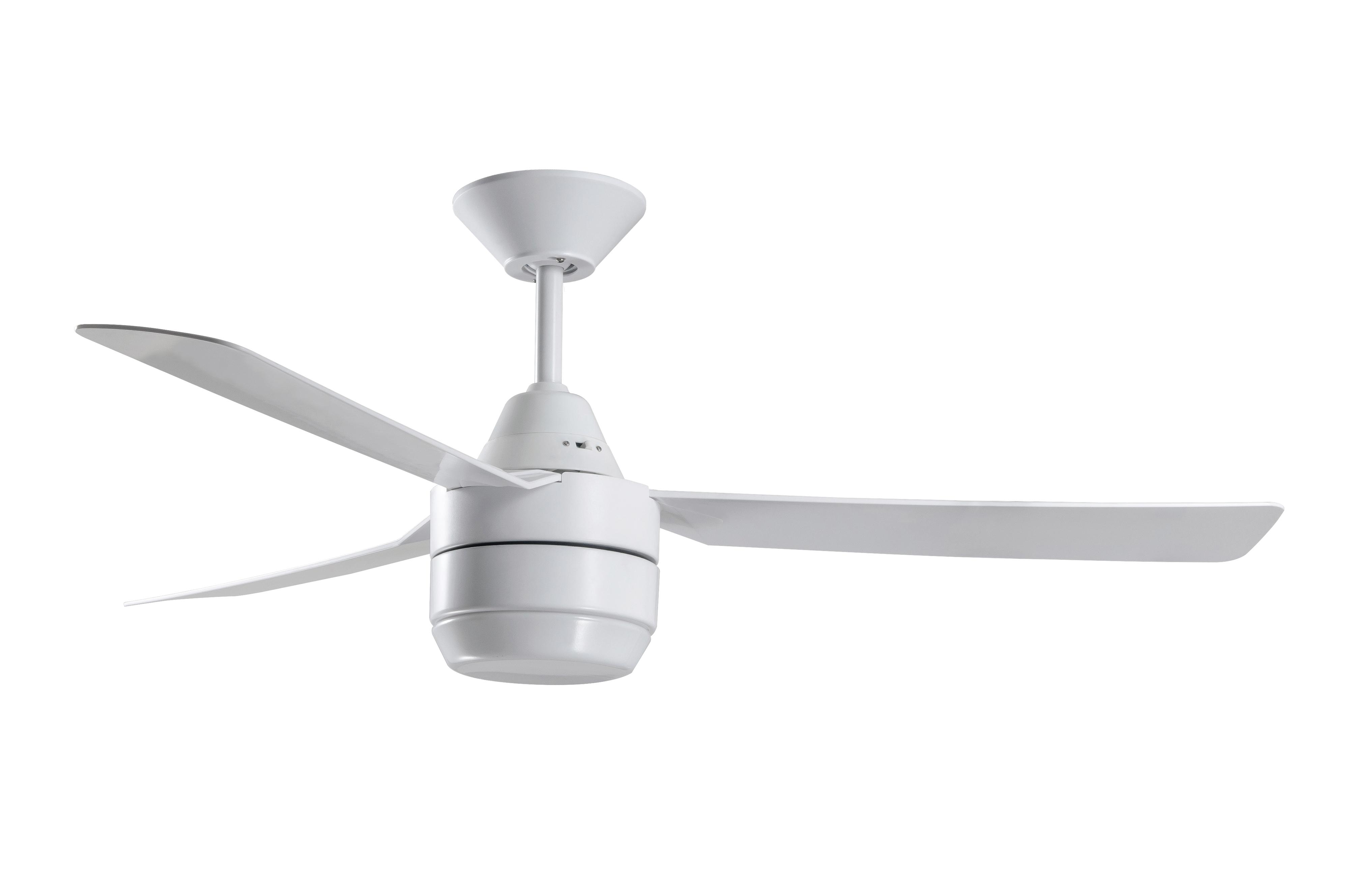 Ceiling Fan Bayside Calypso White 122cm 48 Quot With Light