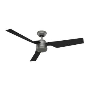"Hunter Outdoor Ceiling Fan Cabo Frio 132cm / 52"" Silver"