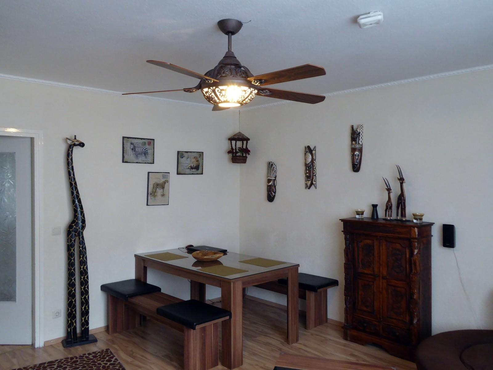 deckenventilator santa pepeo rostbraun mit fernbedienung. Black Bedroom Furniture Sets. Home Design Ideas