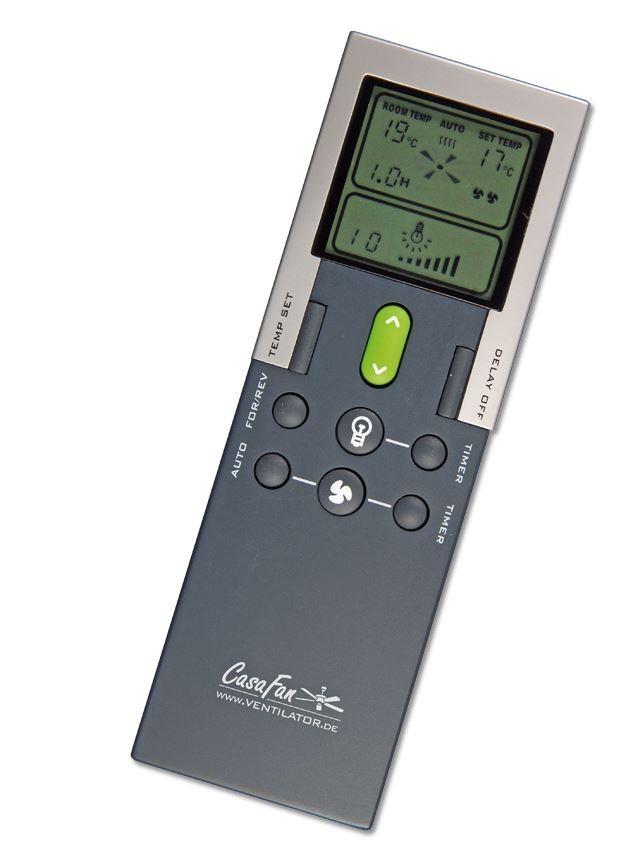 85229 CasaFan Funk & Infrarot Fernbedienung LCD