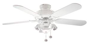 "Ceiling Fan Gemini White 107cm / 42"" with Lights"
