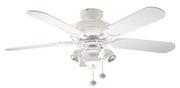 Ventilateur de plafond Gemini blanc 107 cm avec lumière