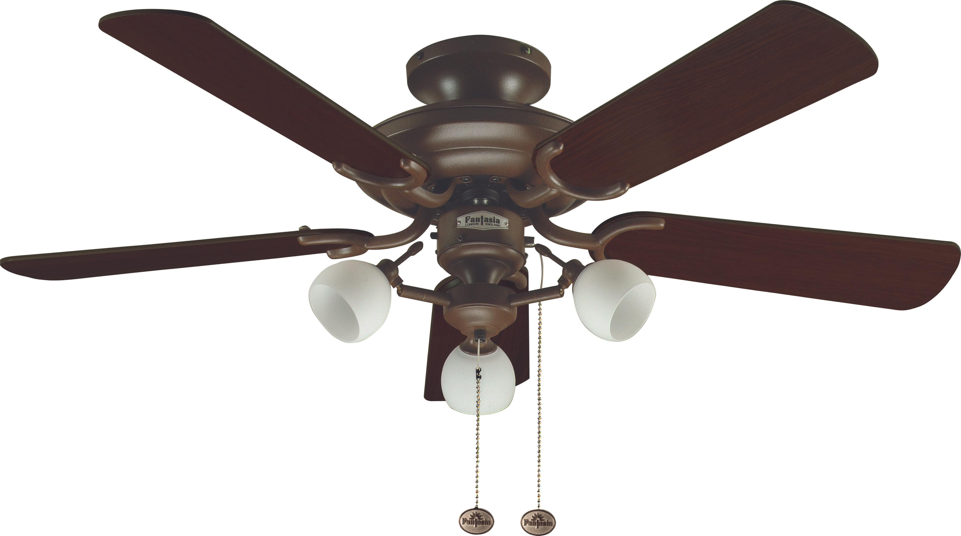 Ceiling Fan Mayfair Combi Brown With Light 107cm 42