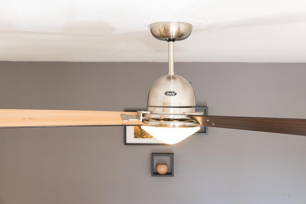 Ventilateur de plafond libeccio chrome bross de casafan - Ventilateur plafond avec telecommande ...