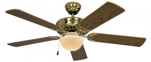 Classique ventilateur plafond champion 106 cm laiton antique avec éclairage