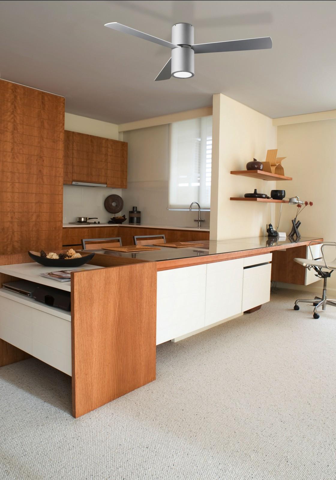 design deckenventilator formentera grau mit led 132 cm. Black Bedroom Furniture Sets. Home Design Ideas
