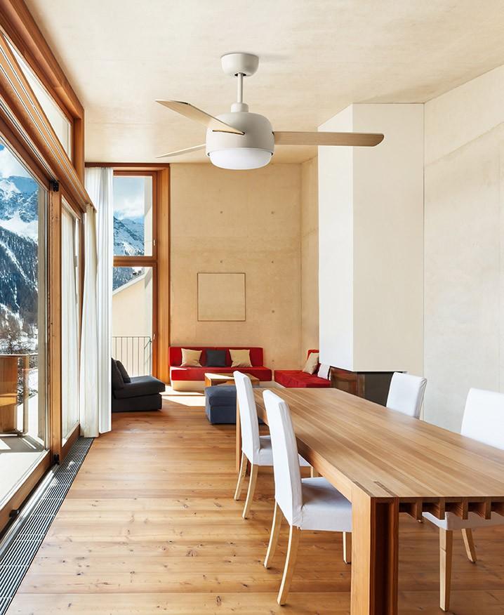 deckenventilator klar mit beleuchtung 106 6 cm. Black Bedroom Furniture Sets. Home Design Ideas