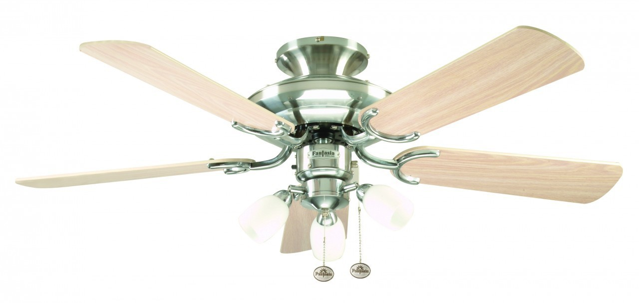 Ceiling Fan Mayfair Combi Steel With Light 107cm 42 Home Commercial Heaters Ventilation Ceiling Fans Uk