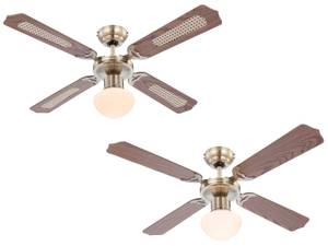 Ceiling fan Champion Brass with light 106cm / 42""
